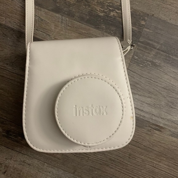White Instax Camera Case with strap